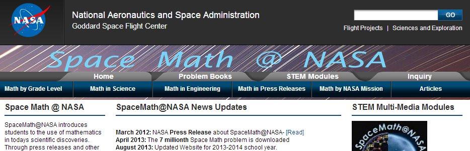 Space Math ofrece lecciones de matemáticas desde la NASA
