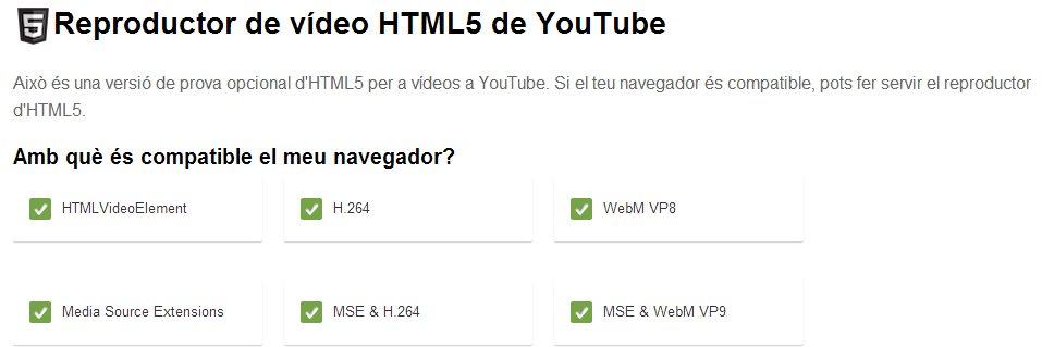 Youtube actualiza su reproductor de vídeo HTML5