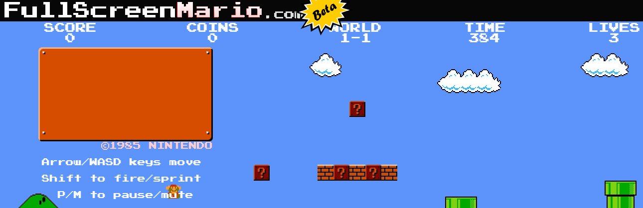 Full Screen Mario, disfrutando de Super Mario Bros desde el navegador