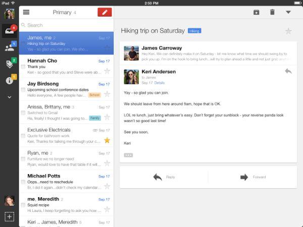 GMail para iPad