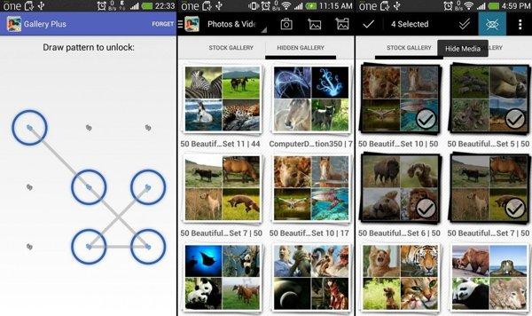 gallery plus ocultar fotos android