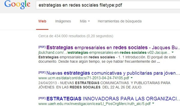 resultados google pdf