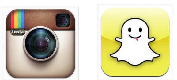 snapchat e instagram