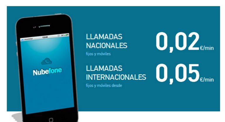 Nubefone, app para llamar desde móvil más barato sin consumir datos