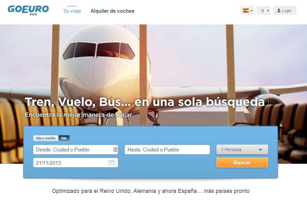 GoEuro llega a España, el buscador de billetes baratos para tren, avión y autobús