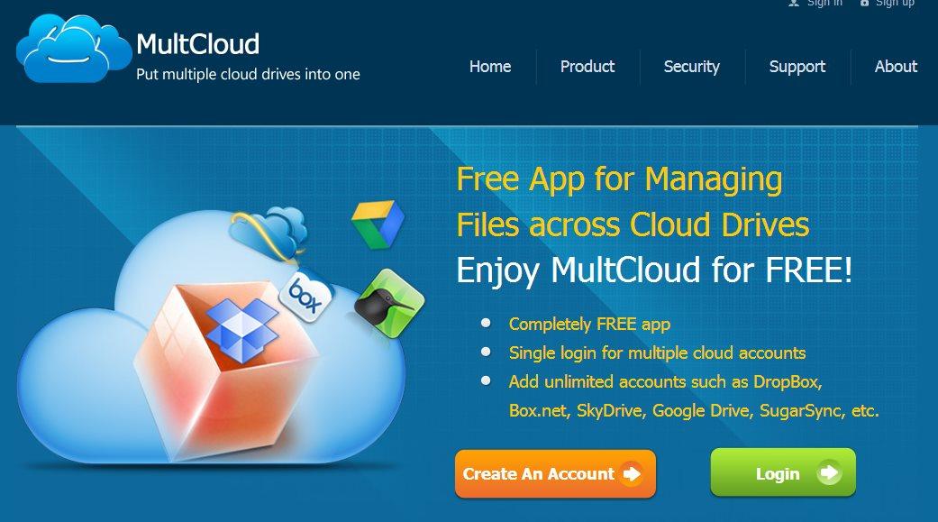 MultCloud, una aplicación para gestionar DropBox, Box, SkyDrive, Google Drive, SugarSync y Amazon
