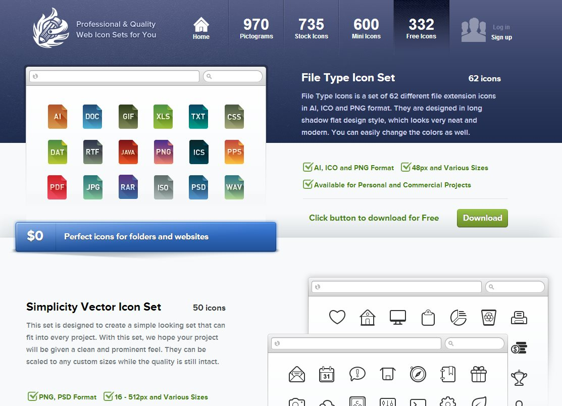 Más de 300 iconos gratuitos para sitios web, carpetas, tiendas online, móviles, blogs…