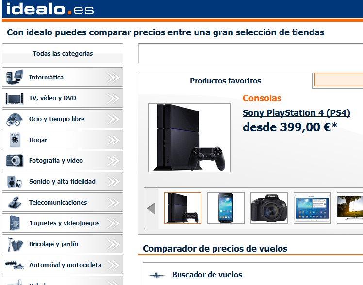 Idealo, el servicio de comparación de precios, llega a España