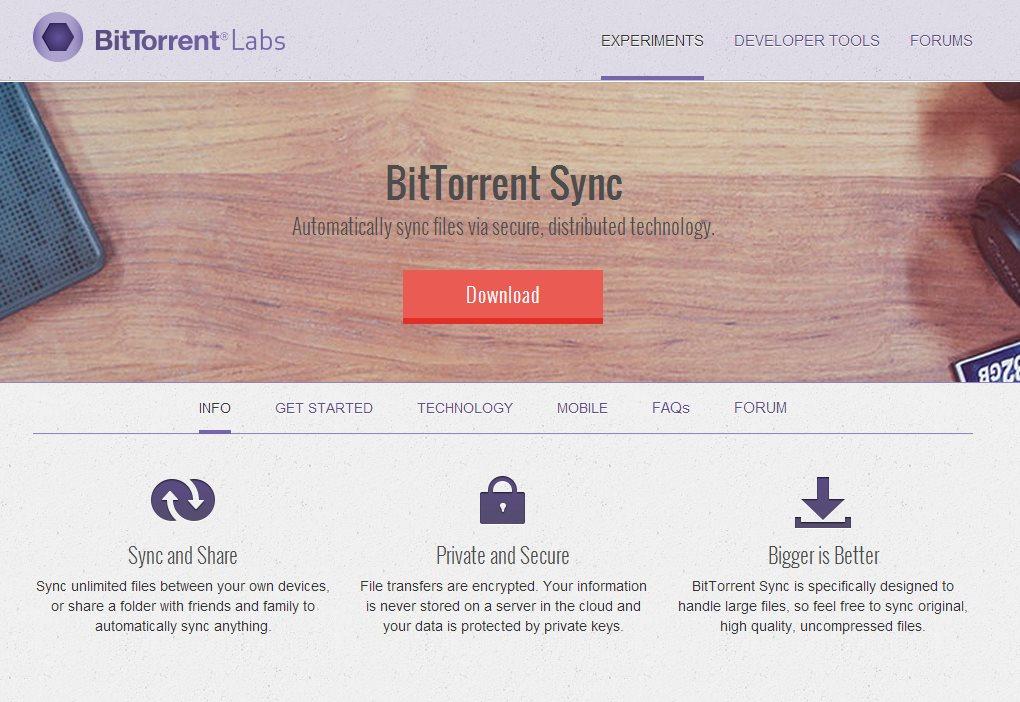 Sync, el Dropbox de BitTorrent, presenta su nueva API
