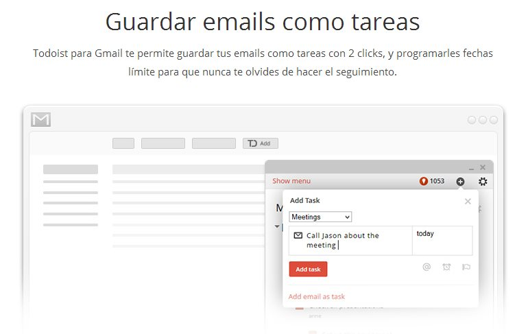 Todoist lanza aplicación para transformar emails en tareas
