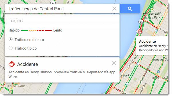 Tránsito Google Maps
