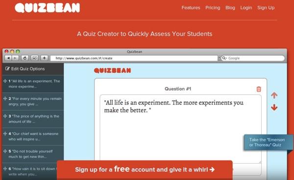 QuizBean, crea y publica un quiz online para tus estudiantes