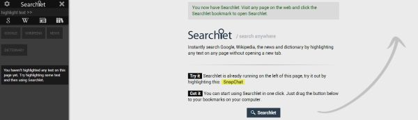 Searchlet