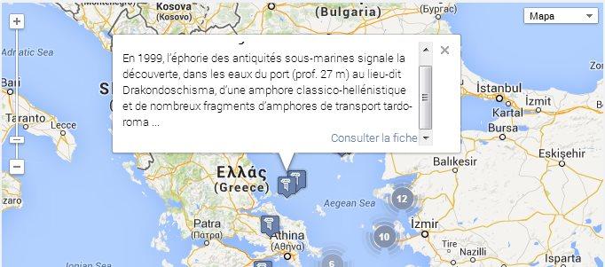Atlas arqueológico digital, descubrimientos arqueológicos en Google Maps