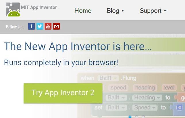 Nuevo App Inventor, para crear aplicaciones Android