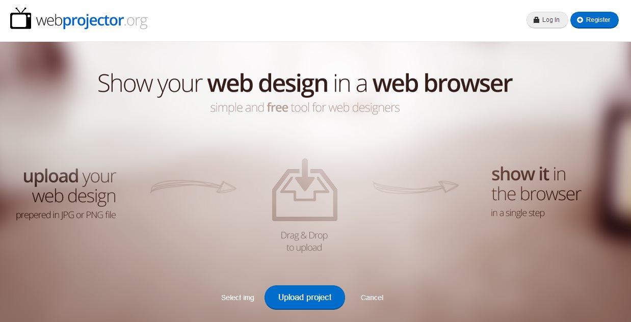 webprojector, para compartir diseños con los clientes y obtener comentarios
