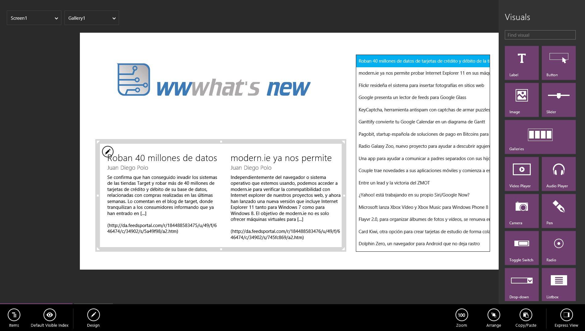 Microsoft lanza constructor de aplicaciones para Windows 8