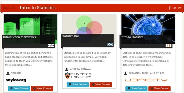 statistics courses