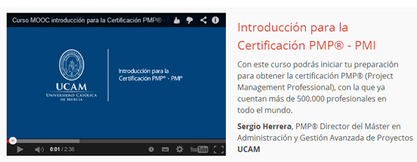 """Introducción para la Certificación PMP """""""" PMI"""