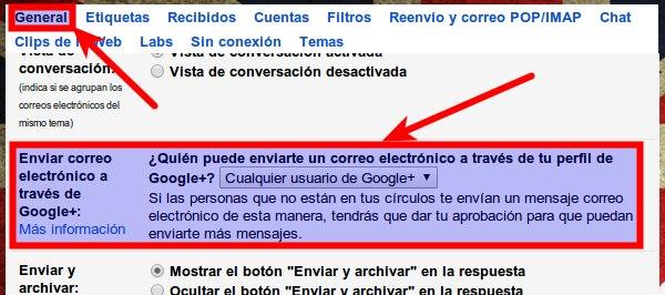1 emails cualquier google+
