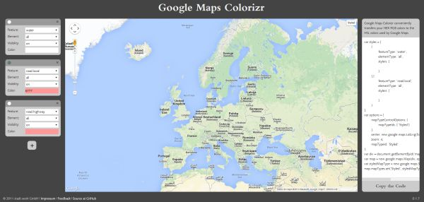 Google Maps Colorizr