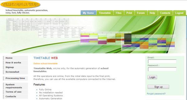 Timetable Web permite la creación de calendarios para los centros educativos