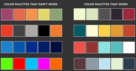 paleta de colores infografias