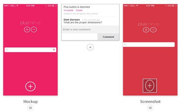 duologue, para comparar diseños en borrador con capturas de pantallas