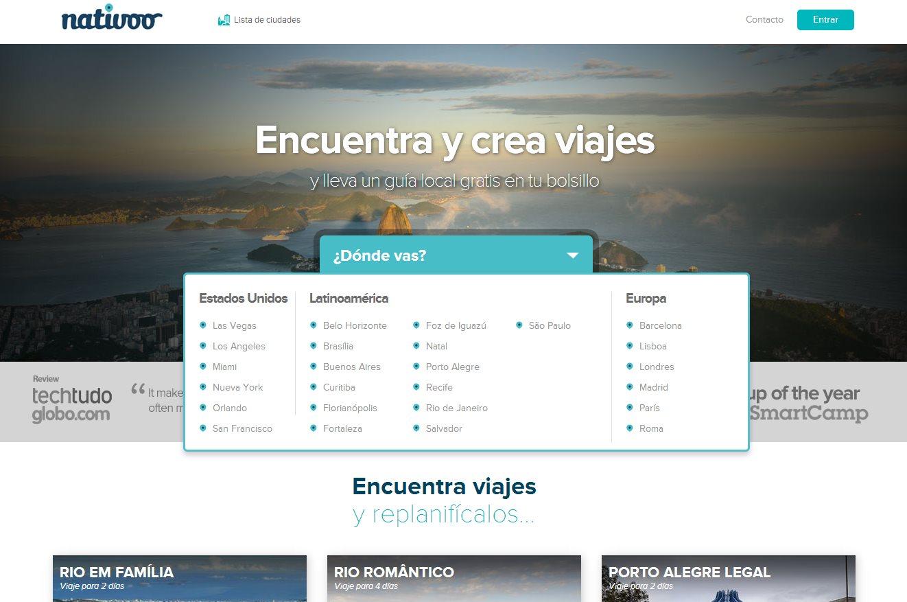 nativoo, creación inteligente de guías de viaje por Internet y móvil
