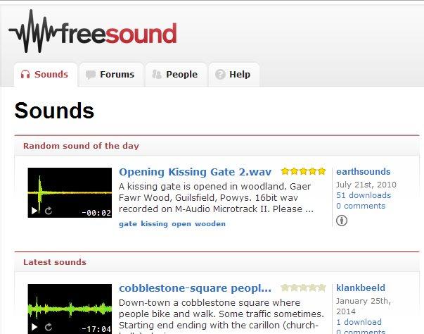 Sitios para bajar sonidos gratis