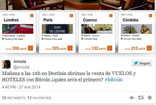 destinia bitcoin