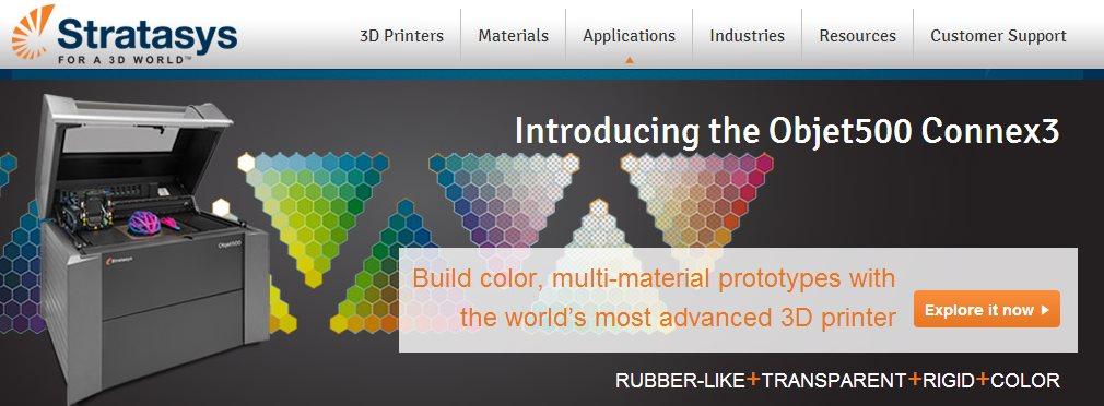 Stratasys lanza impresora 3D a color y con impresión de múltiples materiales
