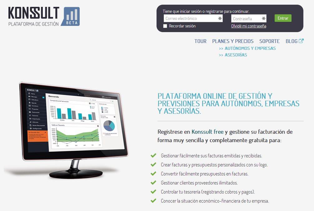 Konssult, nueva plataforma web para gestión de pymes, en español