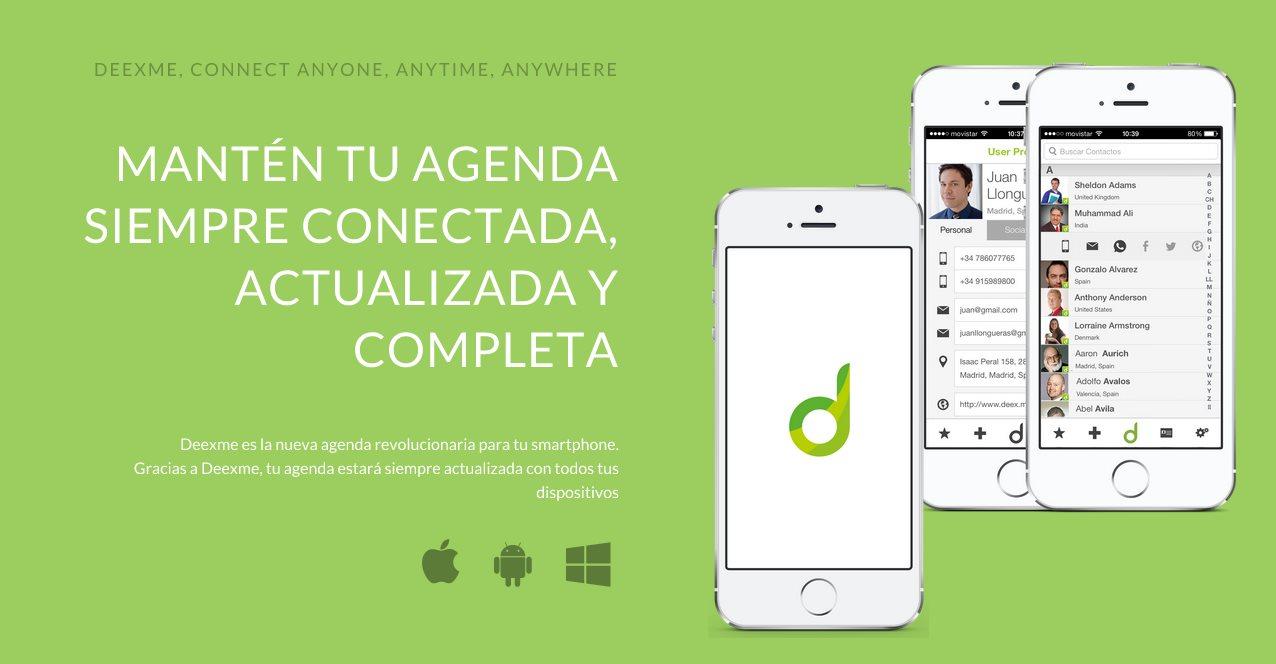 Deexme, una nueva solución para tener la agenda de contactos siempre actualizada