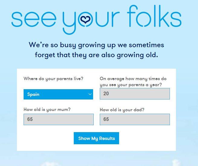 Una web calcula cuántas veces veremos a nuestros padres antes de que mueran