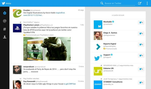 twitter para tablets