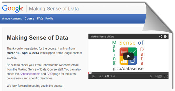 "Google lanza un curso gratuito ""Making Sense of Data"", para enseñarnos a utilizar los datos"