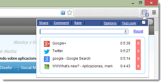 Una manera simple de administrar las pestañas abiertas en Chrome
