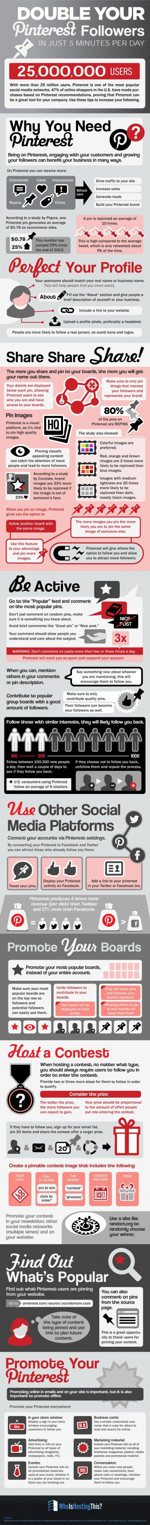 infografia ganar seguidores pinterest