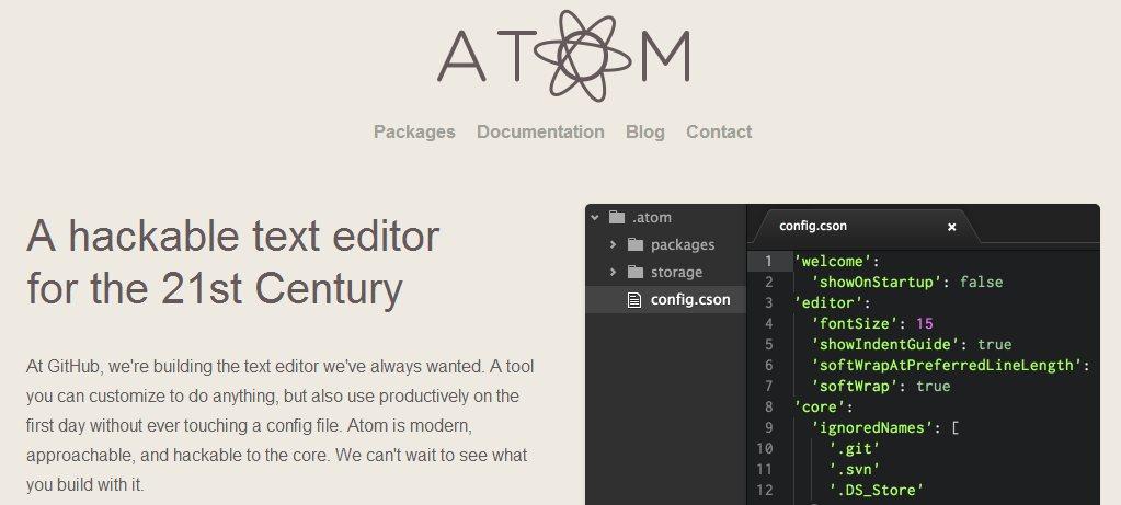 Github lanza Atom, un editor de texto para programadores