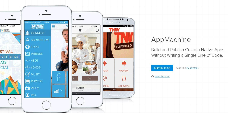 AppMachine, para crear aplicaciones móviles nativas sin escribir código