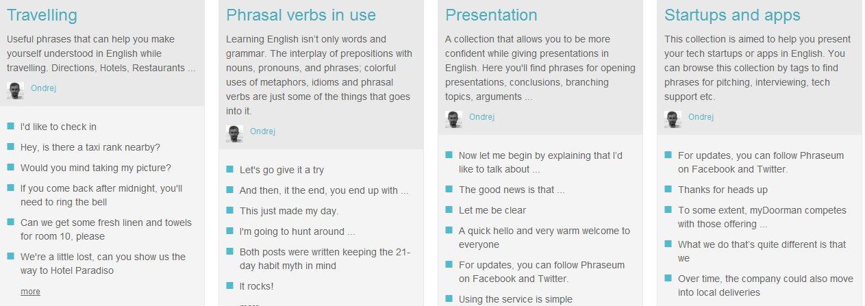 Phraseum se renueva y permite que los usuarios publiquen sus propias colecciones de frases