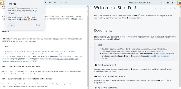 stackedit markdown