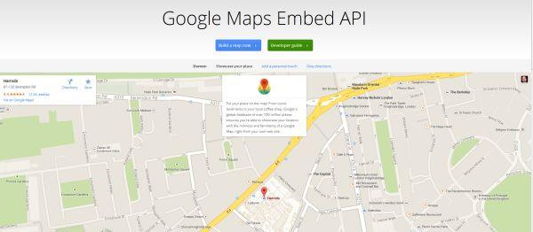 Google Maps Embed API