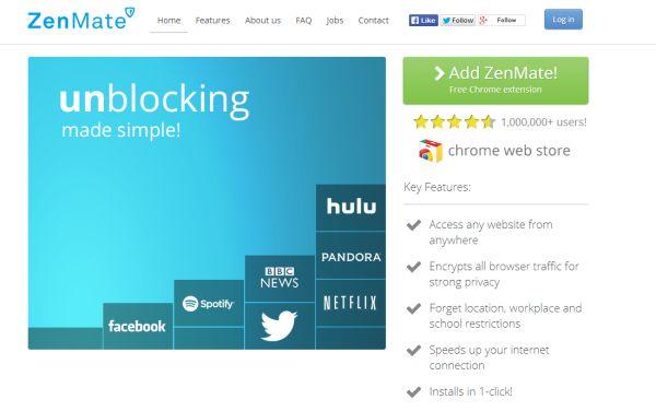 ZenMate, solución de cifrado de datos de navegación por Internet