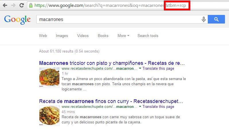 Cómo filtrar los resultados de Google usando la url