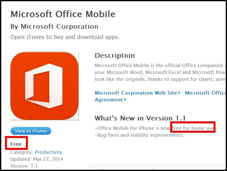 Microsoft ofrece Office para iPhone y Android de forma gratuita