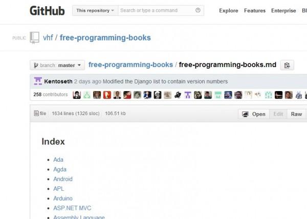Una página con más de 1000 libros gratuitos sobre programación