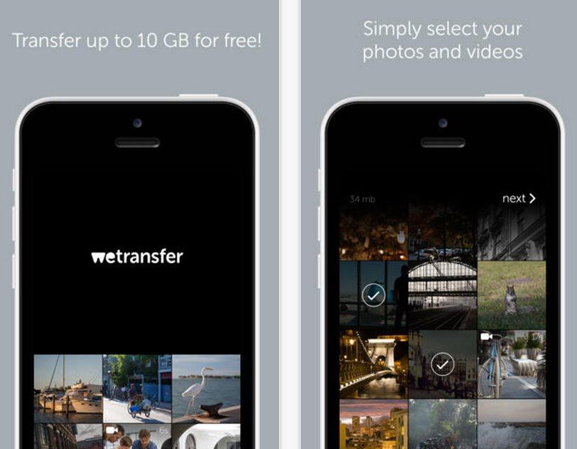 WeTransfer lanza versión para iPhone y iPad y permite enviar hasta 10 gigas