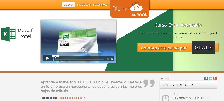 Curso gratuito de Excel, nivel avanzado, en 25 vídeos en español